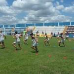 Time feminino do Vitória realiza treino físico em busca da preparação para estreia na Copa do Brasil 2015.